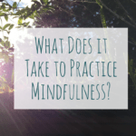 What Does it Take to Practice Mindfulness?