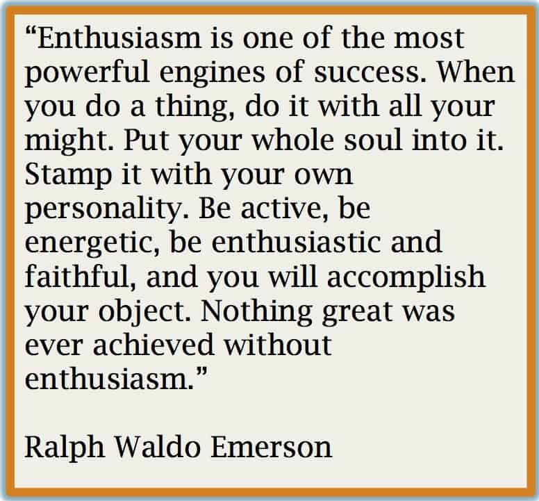 emerson quote - enthusiasm