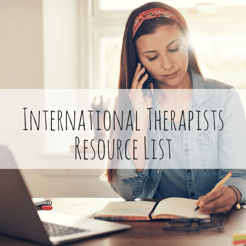 International Therapists Resource List