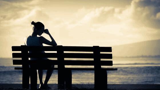 image shows woman feeling sad
